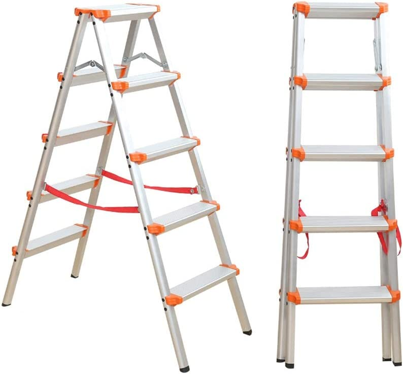 Escalera De Espesor de aleación de Aluminio Plegable de Espiga Inicio Ingeniería Antideslizante cojín del Pedal Liuyu. (Color : Orange): Amazon.es: Hogar
