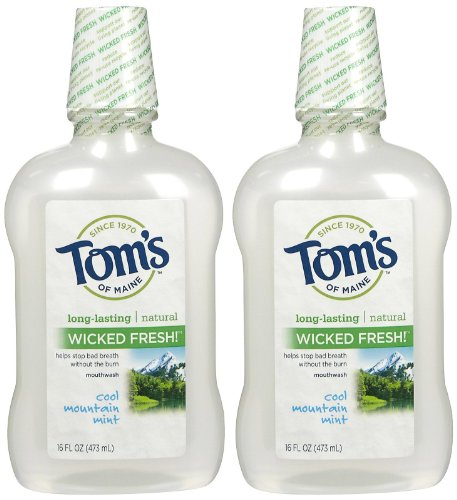 Toms of Maine Cool Mountain Mint Mouthwash, 16 Ounce -- 2 per case.