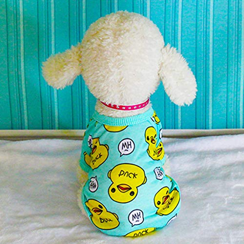 (Fashion Pet Vest,Spring Summer dog cat vest - Duck printing sleeveless puppy shirt - cute ventilate kitty dress - Beach clothes for large small pets bulldog Chihuahua (XXL, Blue))