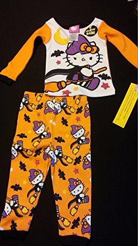 18M Hello Kitty Witch Girls Halloween Costume Pajama Outfit Shirt & Pants Set