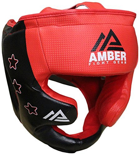 Amber Fight Gear Boxhandschuhe Boxing Headgear - Casco de Boxeo EUHG