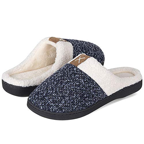 Shoes Black Indoor Outdoor House amp; Plush Women's Comfort Fleece Foam Like Slippers Memory Wool Lined for qU4nUA