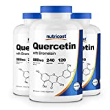Nutricost Quercetin 880mg, 240 Caps with Bromelain (3 Bottles)