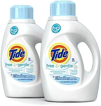 2-Pack Tide Free HE Liquid Laundry Detergent 50 oz