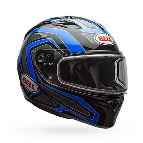 Shield Blue Dual - Bell Qualifier Dual Shield Snow Helmet (Reflective Blue, XX-Large)