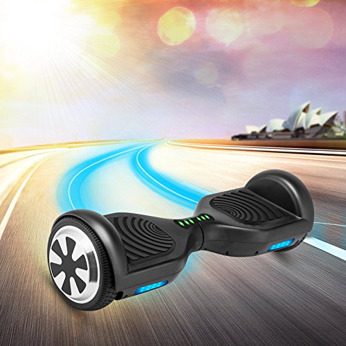 VEEKO Self Balancing Scooter Black Hoverboard with LED Indicator Lights, 350W Dual Motor, UL 2272/2271 Certificate, Alloy Durable Wheels by VEEKO (Image #6)