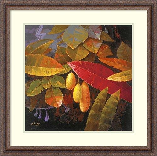 Jung Tropical Print - Framed Wall Art Print   Home Wall Decor Art Prints   Tropical Leaves I by Jung K. an   Country Rustic Decor
