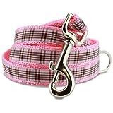 Pink Plaid Furberry Dog Leash