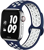 EXCHAR Sport Band Compatible with Apple Watch Band 38mm 42mm 40mm 44mm Breathable Soft Silicone Replacement Wristband...