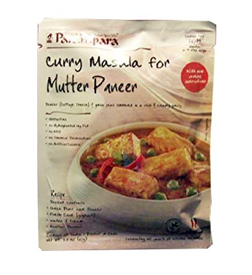 Parampara Mutter Paneer Ready to Cook Spice Mix 2.8 Oz