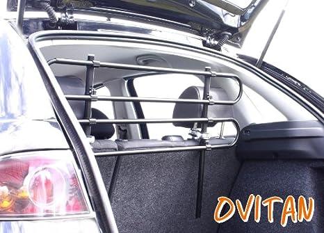 Ovitan Hundegitter Fürs Auto 4 Streben Universal Zur Befestigung An Den Kopfstützen Der Rücksitzbank Für Alle Automarken Geeignet Modell H04 Haustier