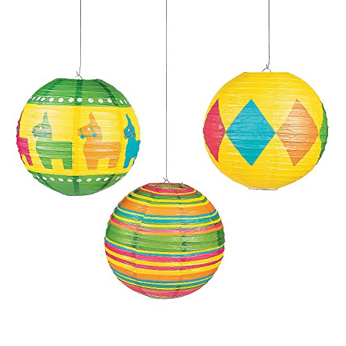 Fiesta Lanterns - Fun Express - Fiesta Party Paper