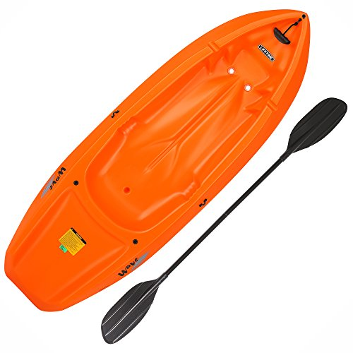 (Lifetime 90479 Youth 6 Feet Wave Kayak with Paddle, Orange)