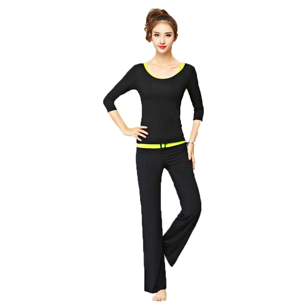 YGXL Damen Sportswear 3 Teile/Satz Trainingsanzug Hohe Elastizität Sportbekleidung Halfter Sport-Tops +T-Shirt+ Leggings Fitness Anzüge Für Yoga, Laufen Und Andere Aktivitäten