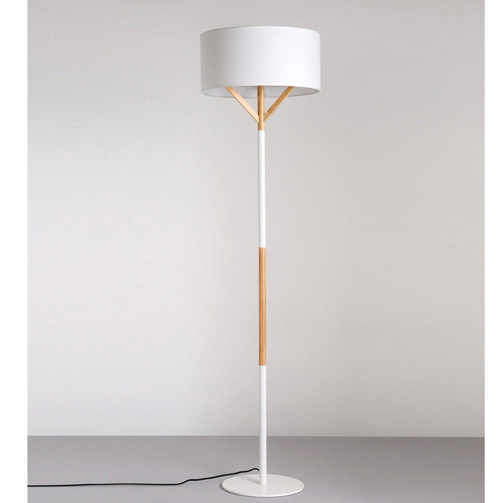 Nordic Holz Wohnzimmer Studie Schlafzimmer Lichter Lampenschirm Einfache moderne Solid Color Stehleuchte ( farbe : Weiß )