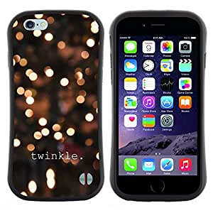 Hypernova Slim Fit Dual Barniz Protector Caso Case Funda Para Apple (5.5 inches!!!) iPhone 6 Plus / 6S Plus ( 5.5 ) [Winter Lights Nuit Jaune]