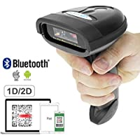 NETUM NT-1228BL Bluetooth QR 2D barcode scanner Handheld USB Wireless 1D 2D bar codes Imager for Mobile Payment Computer Screen Scan for POS/Android/IOS/Imac/Ipad System