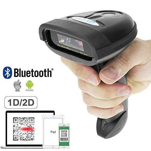 NETUM Bluetooth QR 2D Barcode Scanner Handheld USB Wireless 1D 2D Bar Codes Imager for Mobile Payment Computer Screen Scan for POS Android iOS iMac Ipad System NT-1228BL