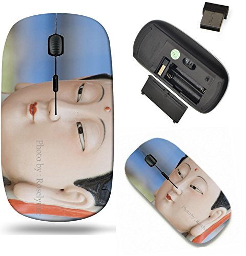 Liili Wireless Mouse Travel 2.4G Wireless Mice with USB Receiver, Click with 1000 DPI for notebook, pc, laptop, computer, mac book Traditional Colorful porcelain Chinese Goddess 28530744 ()