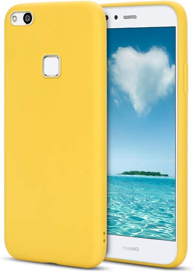 MOSORIS Funda Huawei P10 Lite, Amarillo Carcasa de Mate Superficie ...