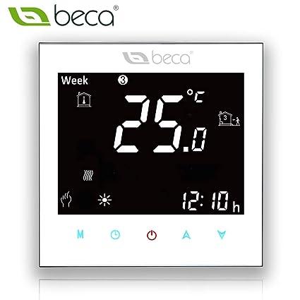 BECA 2000 Series 3 / 16A LCD Pantalla táctil Agua / Eléctrico / Caldera Calefacción Programación