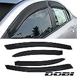 VioletLisa 4pcs Front Rear Smoke Sun/Rain Guard Vent Shade Window Visors for 06-11 Honda Civic 4-Door Sedan