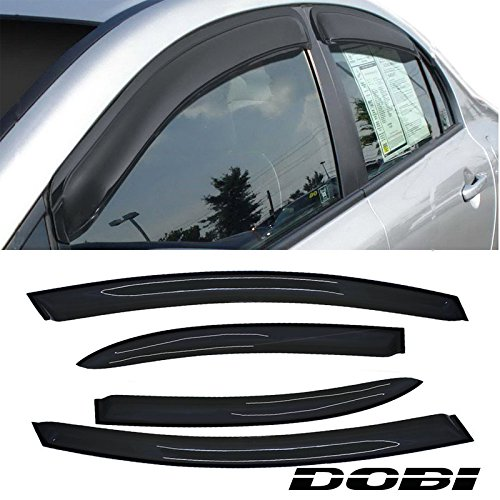 VioletLisa 4pcs Front Rear Smoke Sun/Rain Guard Vent Shade Window Visors For 06-11 Honda Civic 4-Door Sedan ()