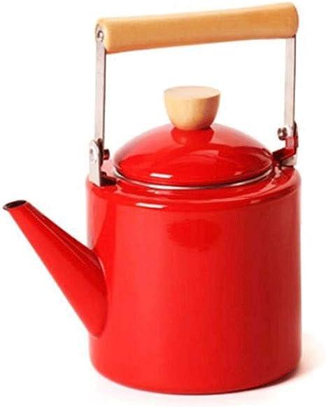 ZSQHD Emaille Wasserkocher Teekanne, Whistling Wasserkocher
