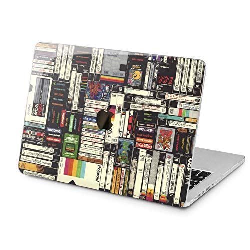 Lex Altern Hard MacBook Pro 15 Case Air 13 inch Mac Retina 12 11 2019 2018 2017 2016 2015 Videotape Touch Bar Cassette Pattern Print Plastic Protective Laptop 80s Apple - Cassette Pattern