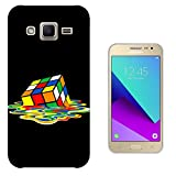 003309 - Melting Rubik cube Kids Boys Design Samsung Galaxy J1 (2016) SM-J120F Fashion Trend CASE Gel Rubber Silicone All Edges Protection Case Cover