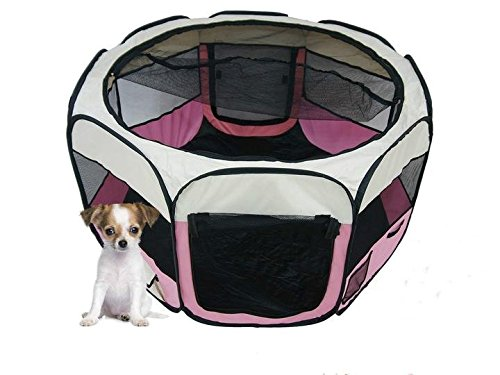 Portable Foldable Playpen Exercise Kennel Large Dogs Indoor/outdoor Removable Mesh Shade Cover,Fence Tent for dogs