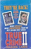 TRUE CRIME 2 1992 ECLIPSE FACTORY SEALED TRADING CARD BOX OF 36 PACKS