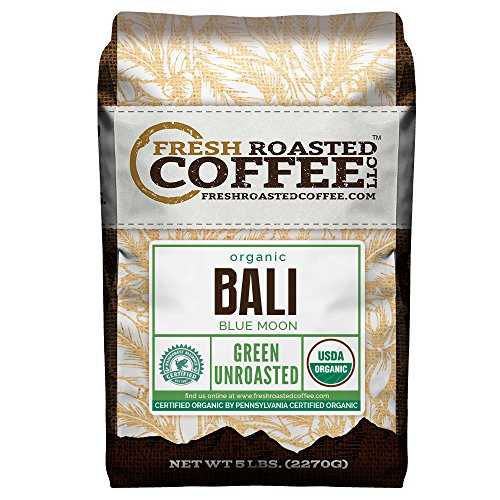 ee, 5 Lb. Bag, Fresh Roasted Coffee LLC. (Organic Bali Blue Moon) (Blue Moon Chocolate)