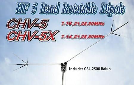 COMET chv de 5 x compacto 40/20/15/10/6 M banda HF estación ...