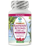 Premium 1000mg Raspberry Ketones + 500mg L-Carnitine - Maximum Strength Natural Weight Loss and Fat Burning Blend - Helps suppress appetite, raise metabolism, increase energy*- 60ct