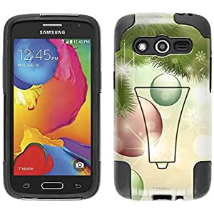 Samsung Galaxy Avant Hybrid Case Christmas Ornaments on the Tree 2 Piece Style Silicone Case Cover with Stand for Samsung Galaxy Avant