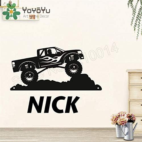 Ajcwhml Monster Truck Etiqueta de La Pared Vinilo Arte Removible Poster Nombre Personalizado Mural Hermoso Adorno Decoracióncm 140x102cm: Amazon.es: Hogar