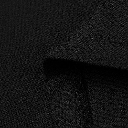 Plage Noir Bohemia Soirée De Coton Robes Couleur V S Casual Femmes Élégant Grande Chic Mode 5xl Pure Col Robe Lin Adeshop Courtes À Robe En Lâche Taille Manches qznpwSB