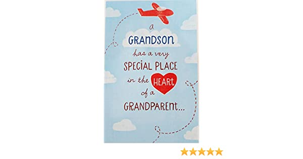 Feesten Speciale Gelegenheden To A Very Special GRANDSON Quality LARGE BIRTHDAY CARD Zig Zag Design
