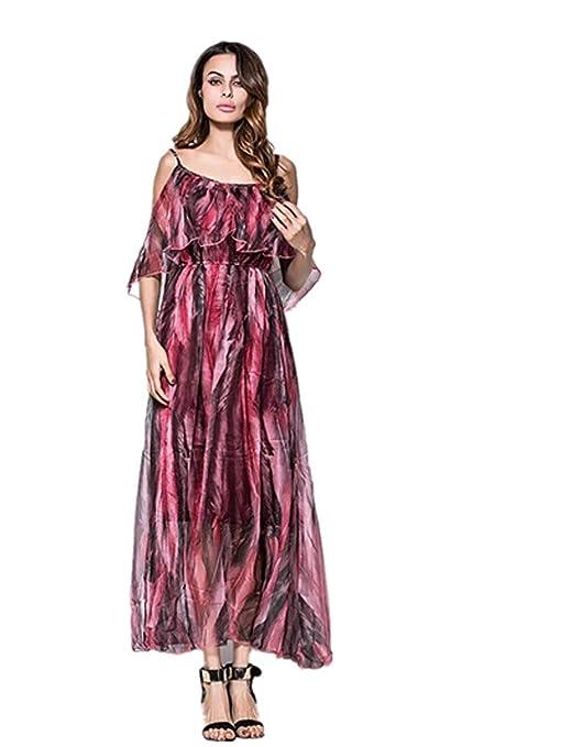 Vestido de Marca para Mujer/Cintura/Falda Larga de Playa de ...