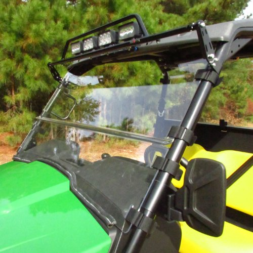 VersaShield 3 In 1 Acrylic Windshield for John Deere Gator 550, 550 S4 and RSX 850i Seizmik