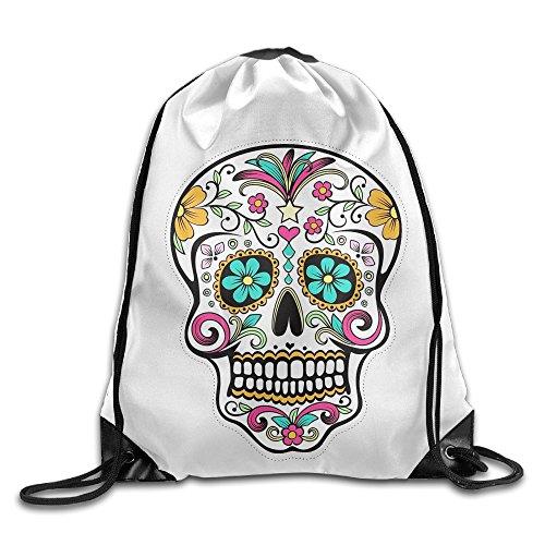 - MCWO GRAY Drawstring Bag Sugar Skull Backpack Draw Cord Bag Sackpack Shoulder Bags Gym Bag Large Lightweight Gym For Men And Women Hiking Swimming Yoga