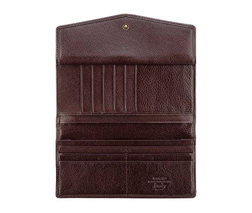 WITTCHEN portafoglio, Marrone Scuro, Dimensione: 9x18.5 cm - Materiale: Pelle di grano - 21-1-079-44