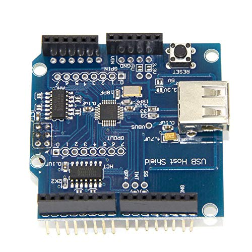 DEH USB Host Shield Support Google Android ADK & UNO MEGA Duemilanove 2560 Arduino - Blue