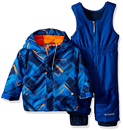 Columbia Baby Buga Snow Set, Super Blue Print/Valencia, 6-12 Months