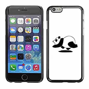"Shell-Star ( Funny Running Panda ) Fundas Cover Cubre Hard Case Cover para 4.7"" iPhone 6"