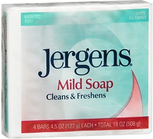 Jergens Mild Soap Cleans & Freshens 4 bars, 4.5 oz ( Pack of 5)