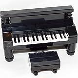 LEGO Furniture: Black Upright Piano - Custom Set, New Parts + Instructions