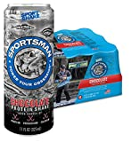 Sportsman Chocolate Protein Shake, 11 Ounce Cans (Case of 12) for Fishermen