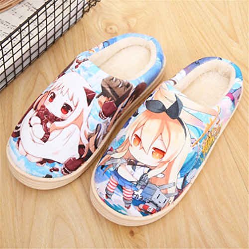 Bromeo Kantai Collection Anime Super Suave Zapatillas de estar por casa Felpa Zapatos